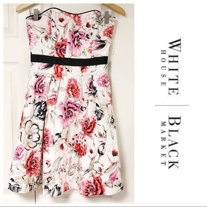JUST IN❗️WHBM WHITE FLORAL CONVERTIBLE DRESS